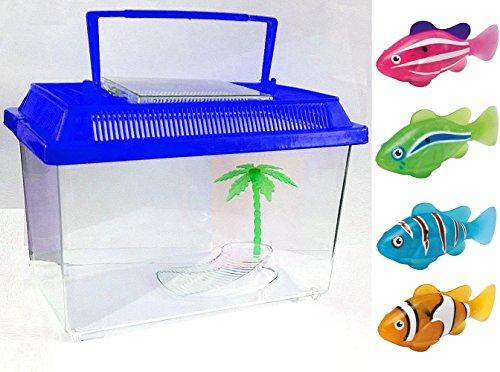 Roboter Fisch mit Tank–Wasser aktiviert, batteriebetrieben Robotic Fisch Pet Kids Kinder Spielzeug Play (Tank Mit Fisch)