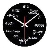 Sharplace Vintage Schwarz Mathe-Equation Uhr Wanduhr Küchenuhr Ornament für Haus Büro