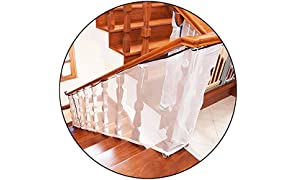 Safe-O-Kid Strong Fine Mesh Fall Prevention Safety Net (White)