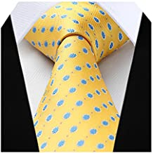 Hisdern Extra Lungo Pois Cravatta Fazzoletto Uomini Cravatta   Fazzoletto a813f65cb4c
