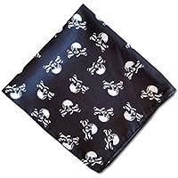 Skull And Crossbones Pirate Bandana - Pirata Bandana In Black con teschio e tibie Stampa