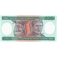 Brasile 200 Cruzeiros banconote per collezionisti World Money Bolletta Sud America / FDC e Freschi /