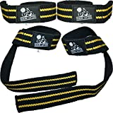 Lifting Straps (2 Pairs/4 Straps) for Weightlifting/Crossfit/Workout/Gym/Powerlifting/Bodybuilding - Better Than Chalk & Leather - Support For Women & Men - Premium Quality Equipment & Accessories - Use Gloves, Hooks, Wrist Wraps & Straps to Avoid Injury During Weight Lifting - 1 Year Warranty