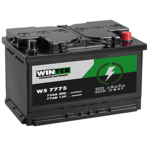 WINTER Premium Autobatterie 12V 77Ah 750A/EN statt 70Ah 72Ah 74Ah 75Ah