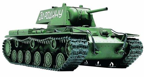 TAMIYA 300032535 - WWII Russischer Schwerer Kampfpanzer KV-1, Militär-Bausatz 1:48