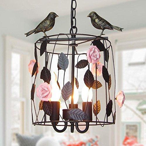 CNMKLM Im nordischen Stil Garten Blumen und Vogelkäfig Restaurant Kronleuchter beleuchtung lampen Schlafzimmer Garten Pendelleuchte-3light