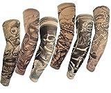 honeysuck 6pcs artificiales temporal antideslizante en tatuaje brazo manga (talla única)
