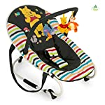 Hauck Bungee Deluxe, Baby Bouncer New-Born from Birth to 9 kg, Baby Rocker with Play Arch, Adjustable Backrest, Harness System, Carry Strap, Animals