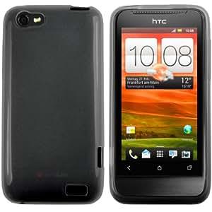 mumbi TPU Skin Case HTC One V Silikon Tasche Hülle - Silicon Protector Schutzhülle transparent schwarz
