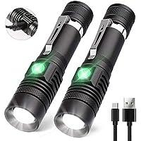 AOMEES USB wiederaufladbare Taschenlampe (einschließlich 18650 Batterie) Taschenlampe
