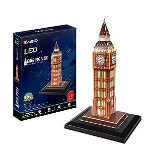 CubicFun- Puzzle 3D LED Big Ben (CPA Toy Group Trading S.L. L501)