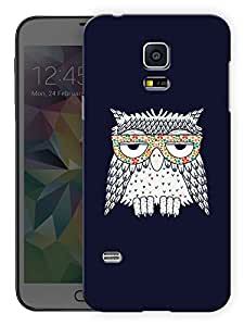 """Humor Gang Stoned OwlPrinted Designer Mobile Back Cover For """"Samsung Galaxy S5"""" (3D, Matte Finish, Premium Quality, Protective Snap On Slim Hard Phone Case, Multi Color)…"""