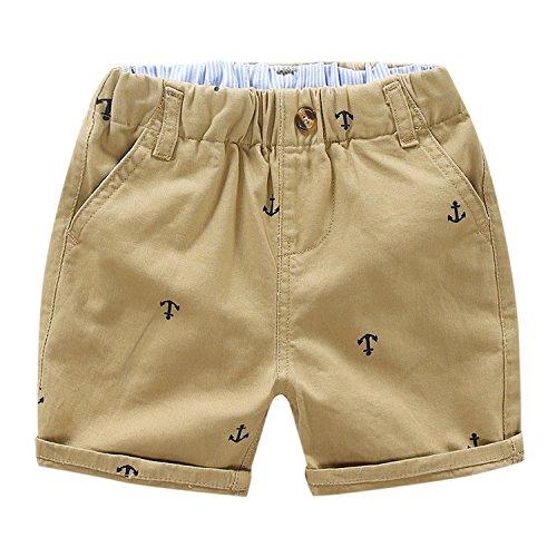 YASSON Baby Shorts Anker Aufdruck Casual Kurz Hose Ealstische Taille Kleinkinder Jungen Shhort Pants Babykleidung