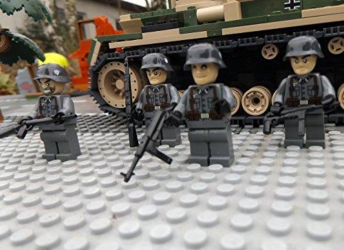 Modbrix 8819 – ✠ 2 Stück Custom Minifiguren Deutsche Wehrmacht Afrika Korps Soldaten aus original Lego® Teilen ✠ - 2