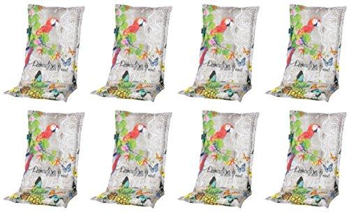 Madison 8 x 8 cm Luxus Hochlehner A 031', Mehrfarbig mit Schmetterling und Papagei, 120 x 50 x 8 cm
