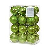 24Stück 60mm grün bruchsicheren Weihnachtskugeln