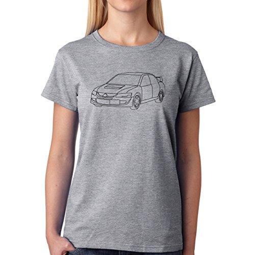 Car Vehicle Four Wheels Auto Evolution White Damen T-Shirt Grau
