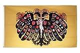 Fahne / Flagge Heiliges Römisches Reich Deutscher Nation Quaterionenadler + gratis Sticker, Flaggenfritze®