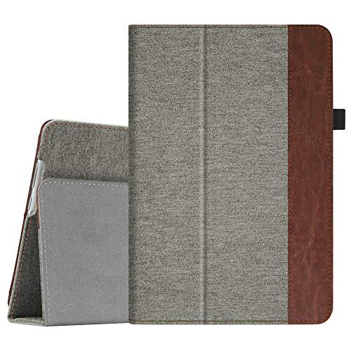 Fintie Hülle Case für Huawei MediaPad M5 Lite 10 - Ultra Schlank Folio Kunstleder Schutzhülle mit Auto Sleep/Wake Funktion für Huawei MediaPad M5 Lite 10 10.1 Zoll 2018 Tablet PC, Denim grau