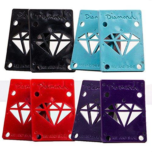 Diamant Skateboard Riser Pads (Paar) 4verschiedene Farben. Blau blau Standard Diamant-skateboarding