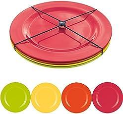 zak! BBQ Salatteller, 4er-Set, Ø 24 cm, hot pop