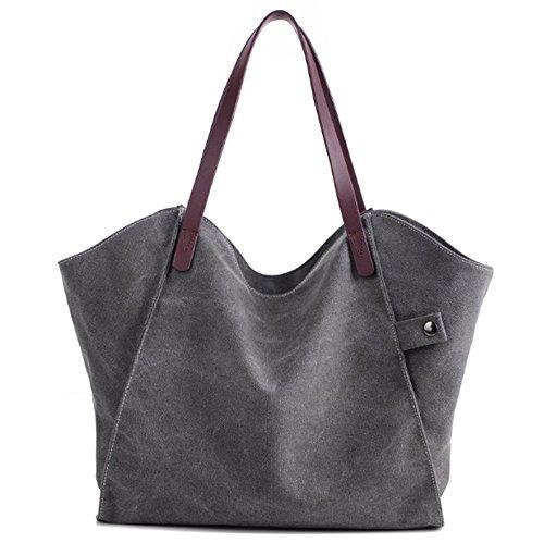Swallowuk Dicke Leinwand Großhandel Taschen, wilde Umhängetasche Umweltschutz Einkaufstaschen Grau