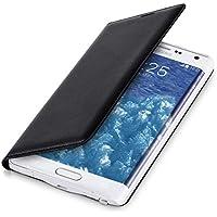kwmobile Flip Case per Samsung Galaxy Note Edge - Custodia protettiva richiudibile in ecopelle in stile Flip Cover in nero