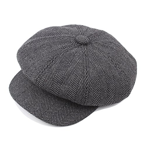 JUTOO Unisex Vintage Casual Baumwollmütze Wintermütze Vintage Warmer Berets Hat Red Hats Stretch-hut