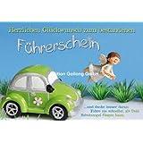 Doppelkarte mit Umschlag ~ Schutzengel & Auto ~ Glückwünsche zum Führerschein