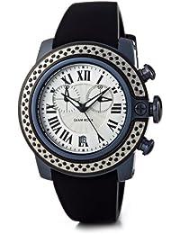 Glam Rock–SB3002–SoBe–Armbanduhr–Quarz Chronograph–Zifferblatt schwarz Armband Silikon Schwarz