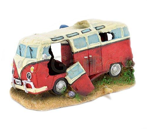 Aquarium Deko Transporter Hippie Bus Bulli Auto T1 Autowrack Wrack Aquarien Deko