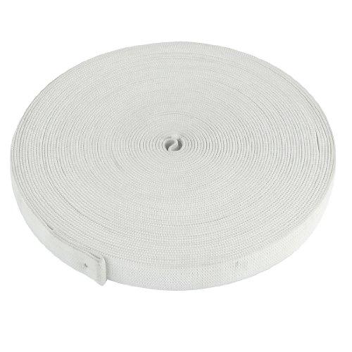 sourcingmap® 15mm Breite weiß Puppe Kleider Polyester flochten elastisch Band 12M 39.4Ft de -