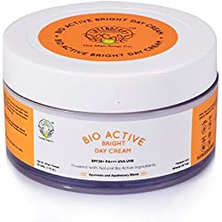 Greenberry Organics Bio Active Bright Day Cream | SPF25+ PA+++ UVA UVB (Sun Defense, Anti-Pigmentation, Dark Spot Reduction, Skin Brightening with Optinov Green, SunCat DE, Raspberry & Saffron Extracts) | PARABEN AND MINERAL OIL FREE (50 GMS)