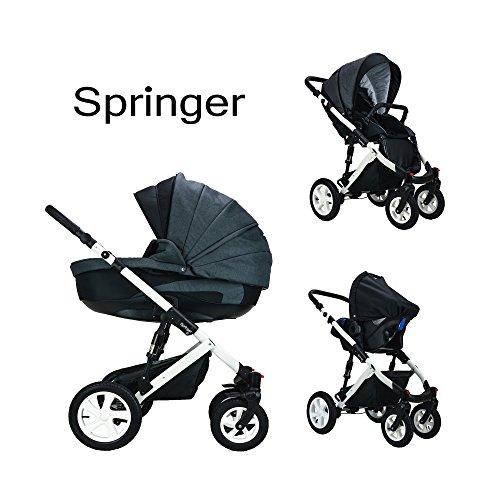 Springer 3 in 1 Kombi Kinderwagen Baby Erstausstattung Buggy Sportwagen Kombikinderwagen Set CityPlus (Dubai)