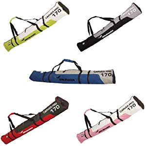 Skisack Carver PRO BRUBAKER Skibag – 5 Farben – 170 cm oder 190 cm – Gepolsterte Skitasche mit Zipperverschluss