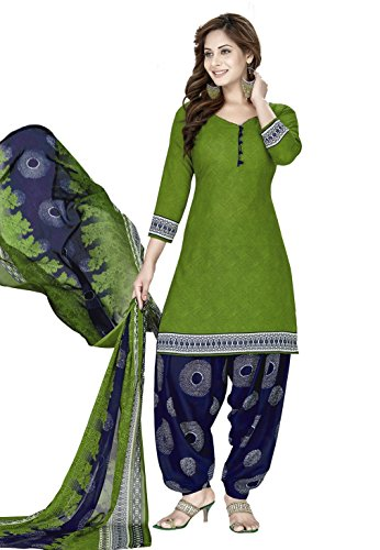 women's printed unstitched Patiala crepe dress material salwar kameez kurta punjabi suit