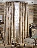Vorhänge ZCJB Europäischer Stil Klassischer Jacquard-Halbschattiger Tuch Wohnzimmer Schlafzimmer Boden Zur Decke Fenster Nach Maß Fertig Produkt Stück (Farbe : A, größe : W300*H270CM)