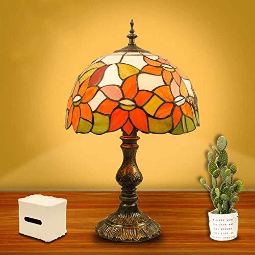 DBSCD Tiffany Stil Glasmalerei Lampe Tisch Nachtlicht für Wohnzimmer Schlafzimmer Antike Kommode Couchtisch Neben Bücherregal