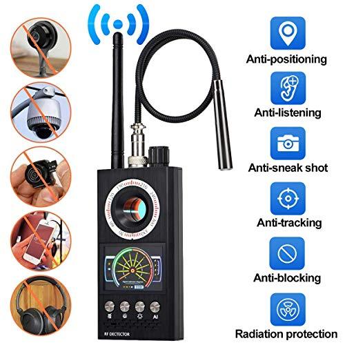 QinLL Bug Detector, RF-Anti-Spy-Detektor Wireless-Scanner, Sucher für versteckte Kameras, Lochlaser-Objektiv, GSM-Geräte-Sucher, Abhör-Spionagesucher, Candid Video, GPS-Tracker-Laser,c Gsm-cdma