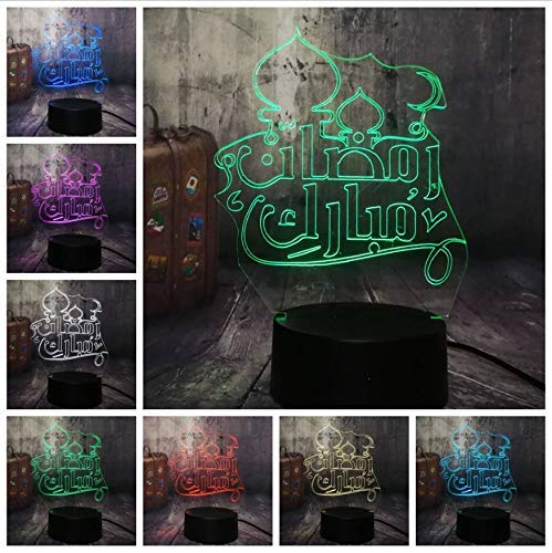 Islam Blessing Best Wishes Greetings 3D Night Light Led...