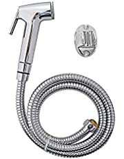 SBD Safari ABS Plastic Health Faucet with Stainless Steel Tube and PVC Holder, Chrome Finished (Silver)