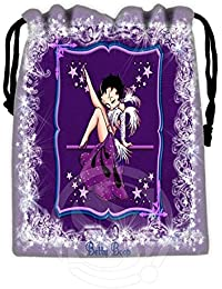 Pink : New Arrive Betty Boop Drawstring Bags Custom Storage Bags Storage Printed Receive Bag Compression Type...