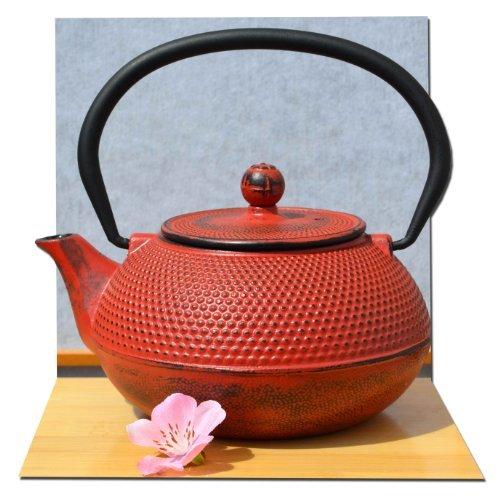 Théière en fonte style japonais Rouge 0,6 l