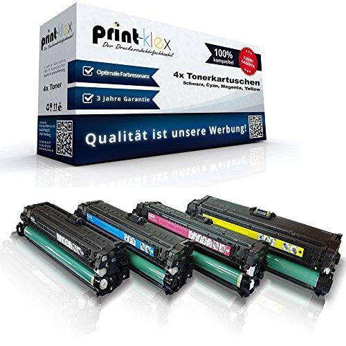Print-Klex 4x Kompatible Tonerkartuschen für HP Color LaserJet LJ Enterprise M750dn Enterprise M750n Enterprise M750Series Enterprise M750xh CE270A CE271A CE272A CE273A Schwarz Cyan Magenta Yellow - Easy Pro Serie