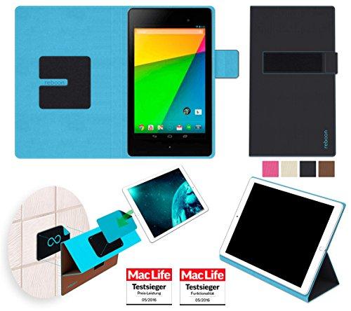 reboon Hülle für Asus Google Nexus 7 2013 Tasche Cover Case Bumper | in Schwarz | Testsieger