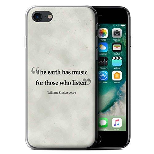 Stuff4 Gel TPU Hülle / Case für Apple iPhone 7 / William Shakespeare Muster / Berühmte Zitate Kollektion