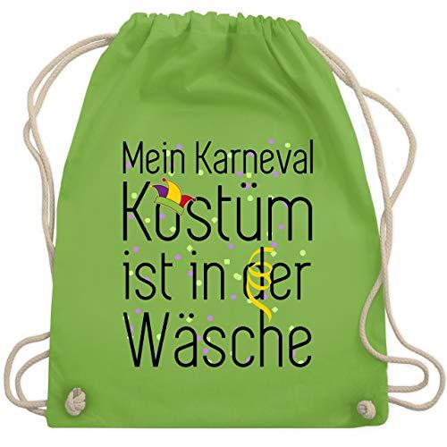 (Karneval & Fasching - Mein Karneval Kostüm ist in der Wäsche - Unisize - Hellgrün - WM110 - Turnbeutel & Gym Bag)