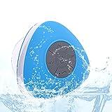 Neuftech Altoparlante Bluetooth Impermeabile da Doccia Speaker portatile con Microfono Incorporato Compatibile con Smartphone/Tablet e Dispositivi MP3, Blu immagine