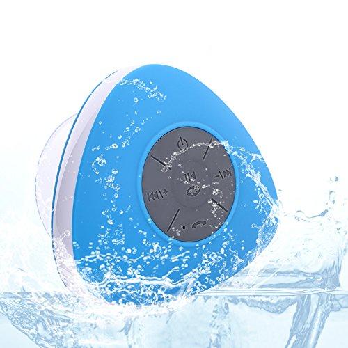 Neuftech Enceinte Haute Parleur Sans Fil Bluetooth Stéréo Portable Microphone Intégré Compatible avec Smartphones/ Tablettes et Appareils mp3 pour Salles de Bains etc ( Bleu)