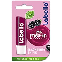 LABELLO Lip Care, Moisturizing Lip Balm, Blackberry Shine, 4.8g